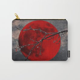 Modern Blood Red Moon Rain Gothic Decor A175 Carry-All Pouch