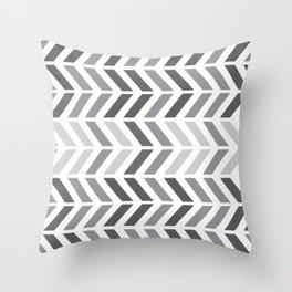 chevron horizontal Throw Pillow