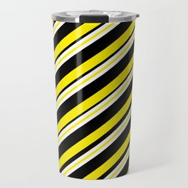 TEAM COLORS 1...double yellow,black and white. Travel Mug