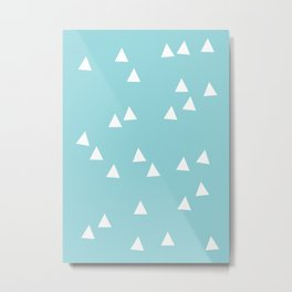 Sailing Triangles Metal Print