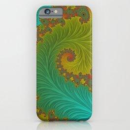 Velvet Crush - Teal and Tangerine iPhone Case