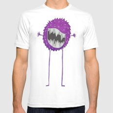 Fluff MEDIUM White Mens Fitted Tee