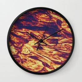 MELT / gold Wall Clock