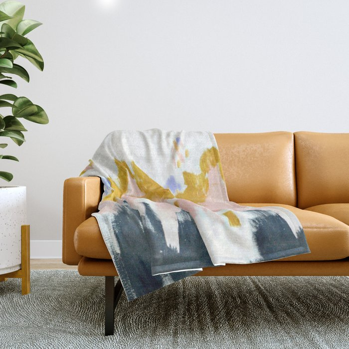 Multicolor spring abstract Throw Blanket