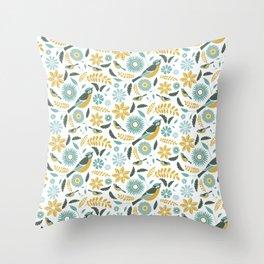 British Birds 1 Throw Pillow