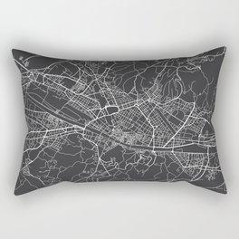 Florence Map, Italy - Gray Rectangular Pillow