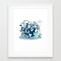 katamari Framed Art Prints featuring Katamario by TEEvsTEE