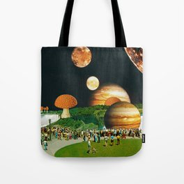 Fungi Waterfalls Tote Bag