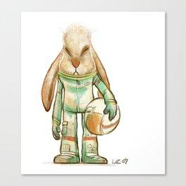 bunny astronaut Canvas Print