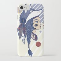 native american iPhone & iPod Cases featuring Native American by Katie Ruby Illustrator