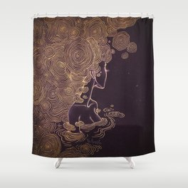 Ripples of Gold Shower Curtain