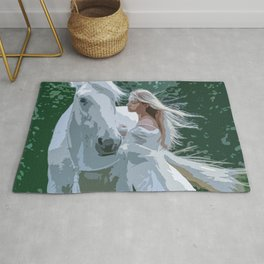 The White Maiden and A White Horse Rug