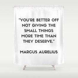 MARCUS AURELIUS  Stoic Philosophy Quote Shower Curtain
