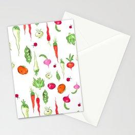 Veggie Party Pattern Stationery Cards