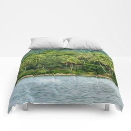 House in a Island Comforters