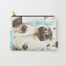 Watercolor Wildflowers & her Bestie Carry-All Pouch