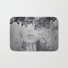 Soul - surreal dreamy portrait, woman nature photo, spiritual portrait Bath Mat