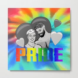 Male Pride Couple Metal Print