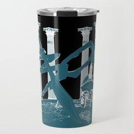 300 Blue and Black Travel Mug
