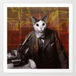 Science Cat Art Print