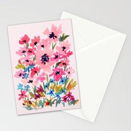 Peachy Wildflowers Stationery Cards