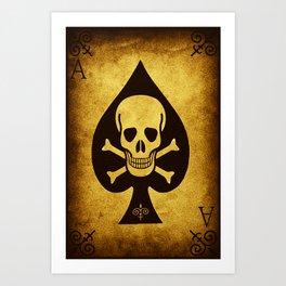 Death Card Ace Of Spades Art Print