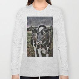 Melancholic Black White Dutch Cow Long Sleeve T-shirt