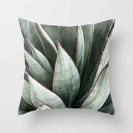 Cactus Leaves // Green Southwest Home Decor Vibes Desert Hombre Plant Photograph Throw Pillow