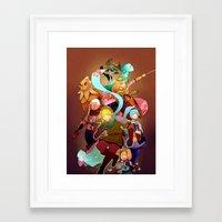 hyrule Framed Art Prints featuring Hyrule Warriors by Breadtastesgood
