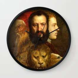 Titian The Allegory of Prudence Wall Clock
