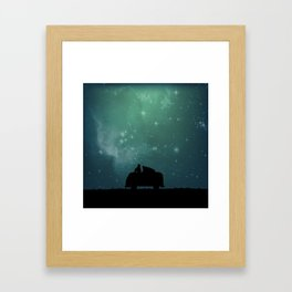 Looking Up at the Night Sky Framed Art Print