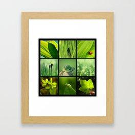 3x3 Green Framed Art Print