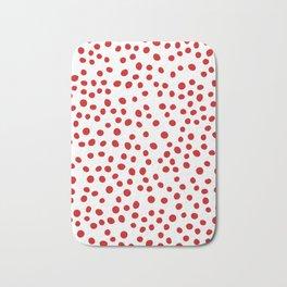 Red doodle dots Bath Mat