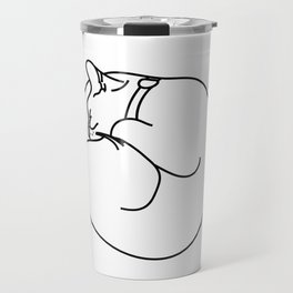 Sleeping Cat Travel Mug