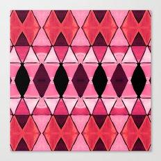 Art Deco Triangles Hot Pink Canvas Print