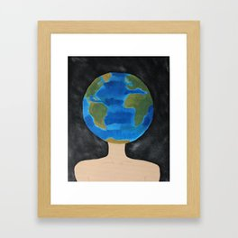 Thinking Globally Framed Art Print