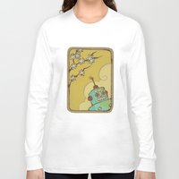 robot Long Sleeve T-shirts featuring Robot by Willow Dawson