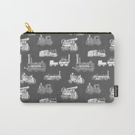 Antique Steam Engines // Charcoal Grey Carry-All Pouch