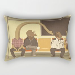 Dino Subway Rectangular Pillow