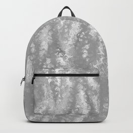 Gray Waves Abstract Backpack