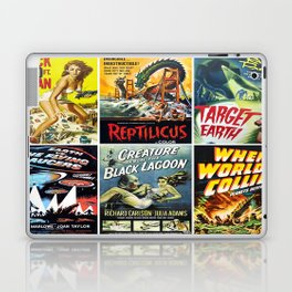 50s Sci-Fi Movie Poster Collage #1 Laptop & iPad Skin