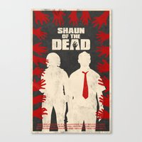 shaun of the dead Canvas Prints featuring Shaun Of The Dead by Bill Pyle