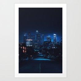 Blue L.A Art Print