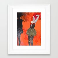 shadow Framed Art Prints featuring Shadow by doviArt