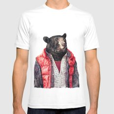 Black Bear Mens Fitted Tee White LARGE