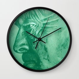 wladimir nabokov - green Wall Clock
