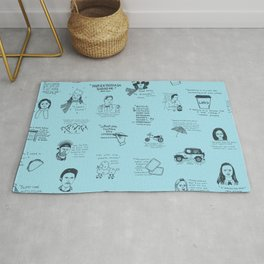 Gilmore Girls Quotes in Blue Rug