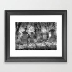 Highgate Cemetery London Framed Art Print