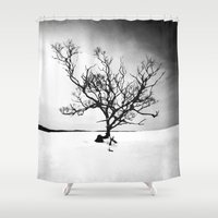 tree of life Shower Curtains featuring TREE LIFE by Maioriz Home