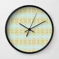 ikat Wall Clocks featuring IKAT by Sarah Saeed